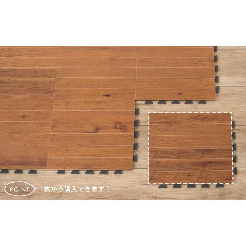 フロアタイル フローリングタイル 30×30cm 30cm角 特殊硬化紙  リフォーム 1枚入り 0W133|landmark|07