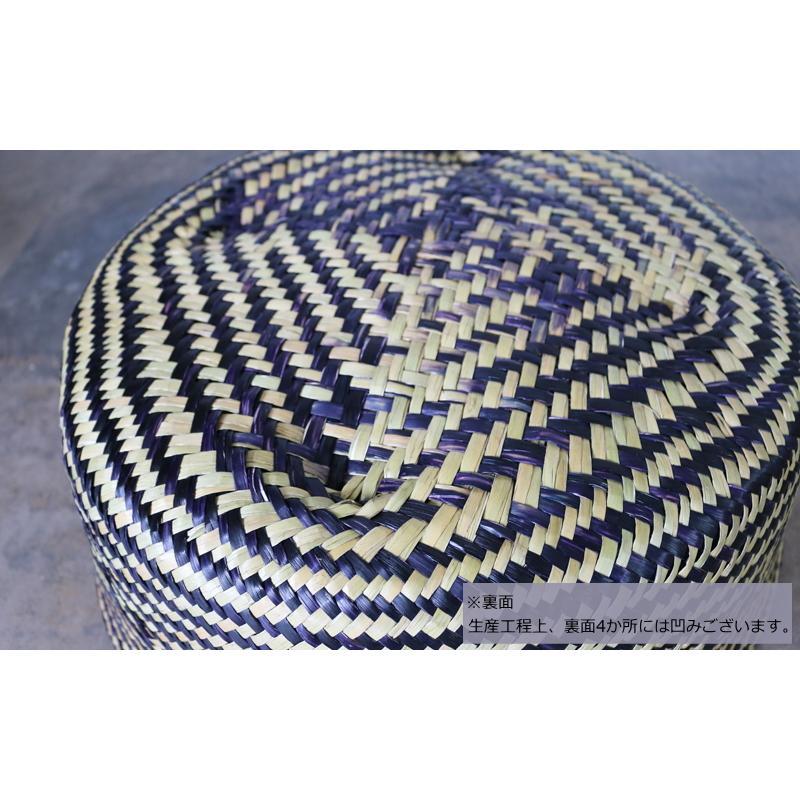 アジアン家具 バスケット かご 収納 持ち手付き ランドリー 小物入れ おしゃれ 大きめ Lサイズ 折り畳み シーグラス製 ナチュラル エスニック AZS010L|landmark|08