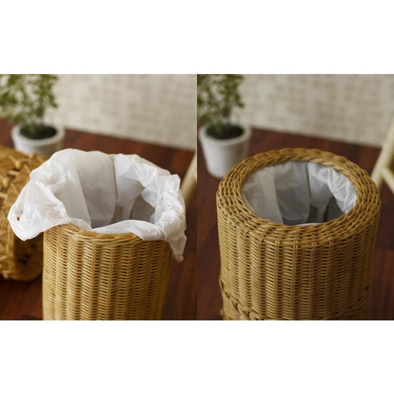 ゴミ箱 かわいい ごみ袋が見えない カバー付き ラタン GK807HN|landmark|04