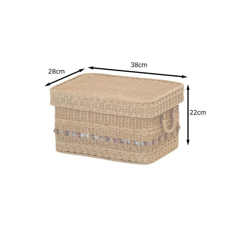 ラタンバスケット 蓋付き 籐かご かわいい 収納 内布付 GK808HN|landmark|06