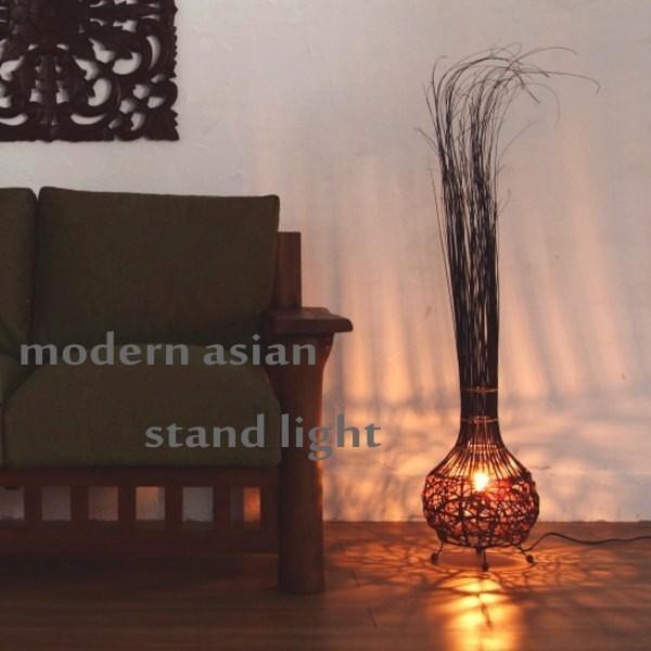 アジアン雑貨 照明 バリ いつでも送料無料 フロアライト スタンドライト 休日 ランプ Z940102S アクビィ おしゃれ 間接照明