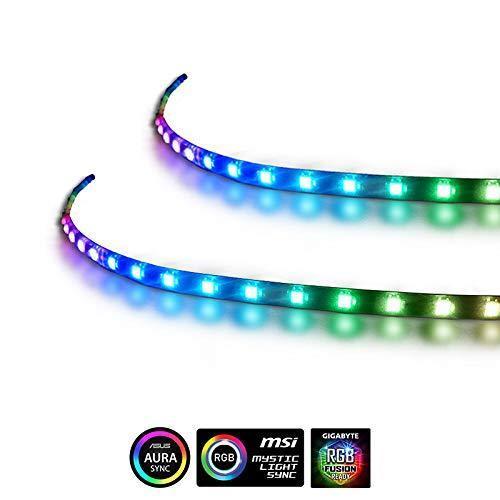拡張コンピューター磁気5V 3ピンPCLEDストリップライト - RGB PC Aura (人気激安) ASUS MSIミ LEDストリップライト2個 SYNC 爆買い新作