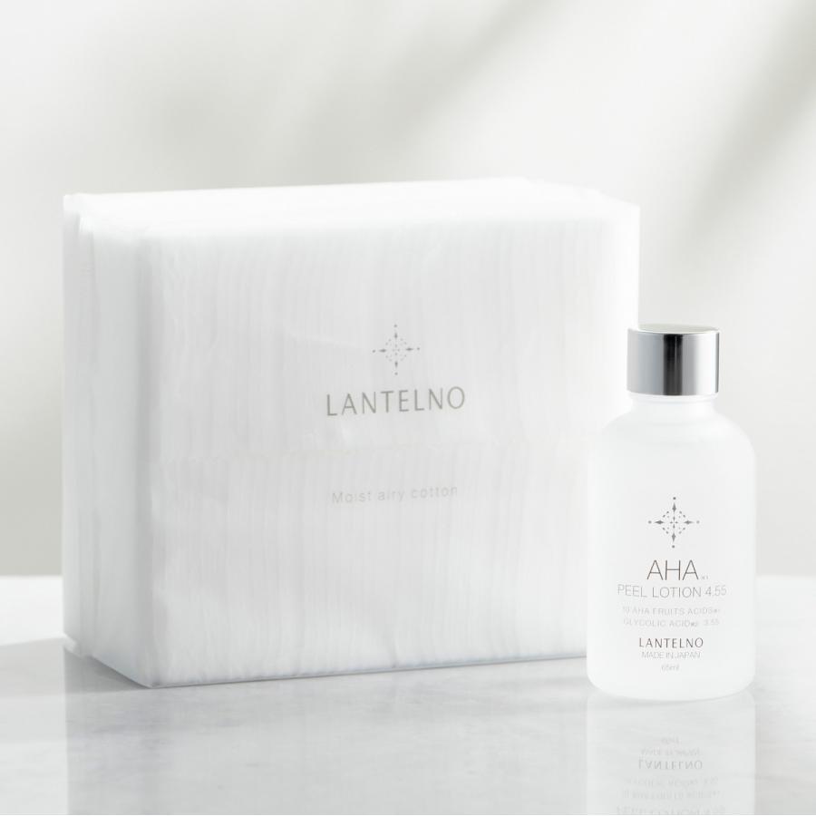 コットン 大判 モイストエアリーコットン ふきとり化粧水 拭き取り化粧水 LANTELNO 80枚 ランテルノ 推奨 におススメ 結婚祝い