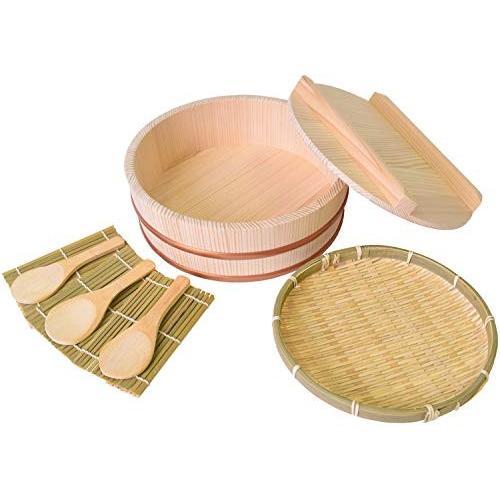 木曽工芸 おひつ 手巻き寿司セット (蓋付き) 2.5合用|lanui