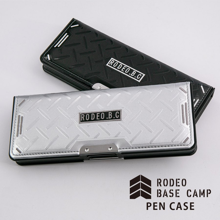 LIRICO リリコ 筆箱 ロデオ ベースキャンプ ペンケース 筆入れ 両面 2ドア ブラック シルバー|lapiz|19
