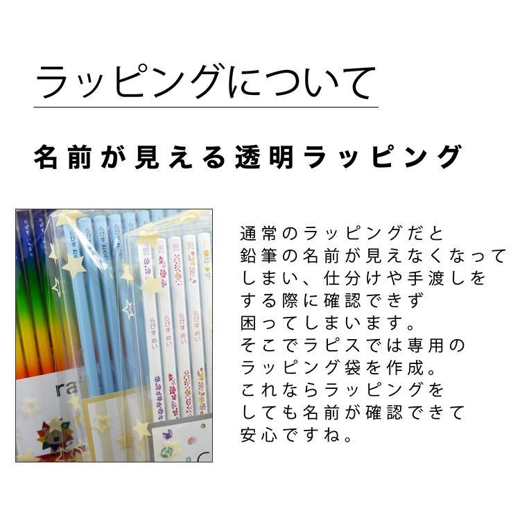 【販売終了致しました】ギャラクシーねーむ鉛筆 2B (赤鉛筆セット) 朱色 卒園 記念品 オリジナル えんぴつ キラキラ lapiz 08