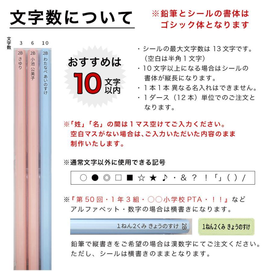 名入れ 鉛筆 パステルカラー鉛筆 2B (お名前シールセット) 卒園 記念品 オリジナル えんぴつ ブルー ピンク|lapiz|15