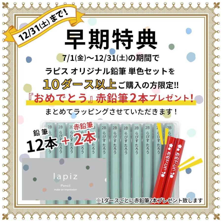 鉛筆 名入れ ラピス オリジナル鉛筆 単色セット 2B 卒園 記念品 オリジナル えんぴつ 木目 ウッド|lapiz|02