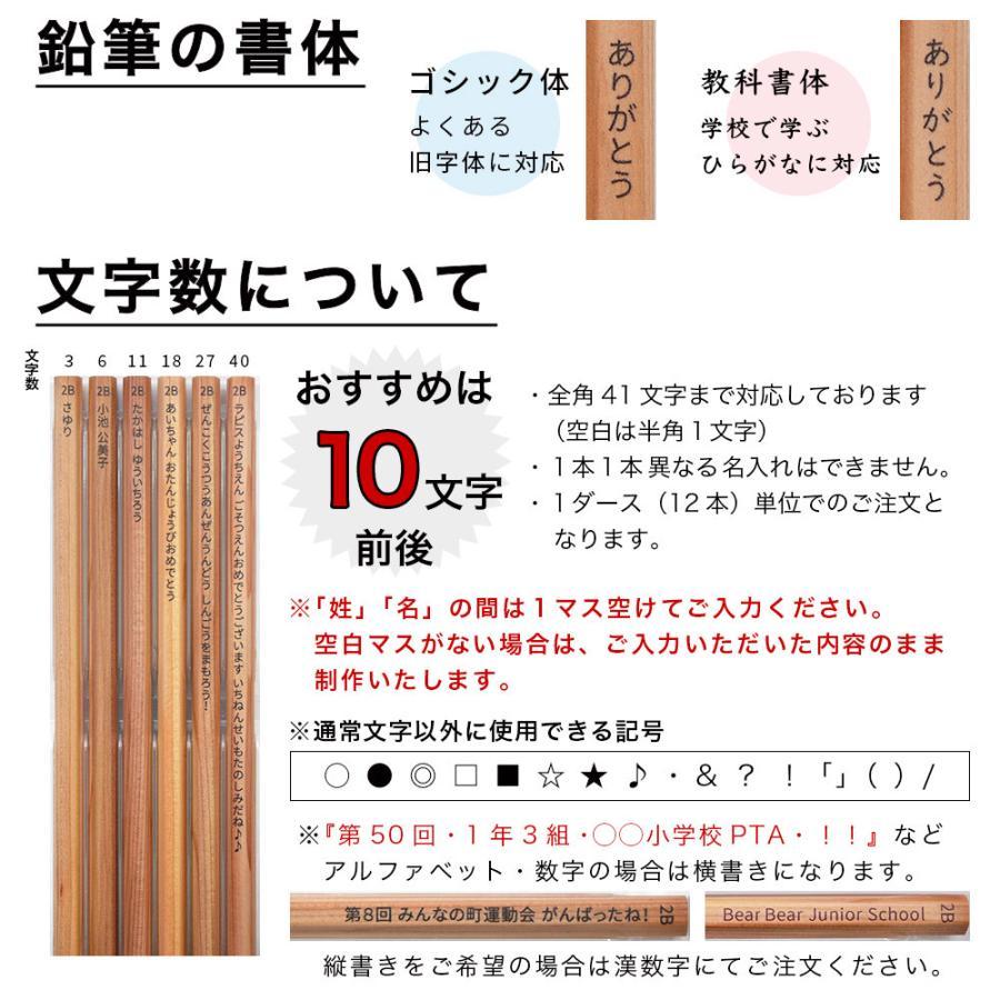 鉛筆 名入れ ラピス オリジナル鉛筆 単色セット 2B 卒園 記念品 オリジナル えんぴつ 木目 ウッド|lapiz|14