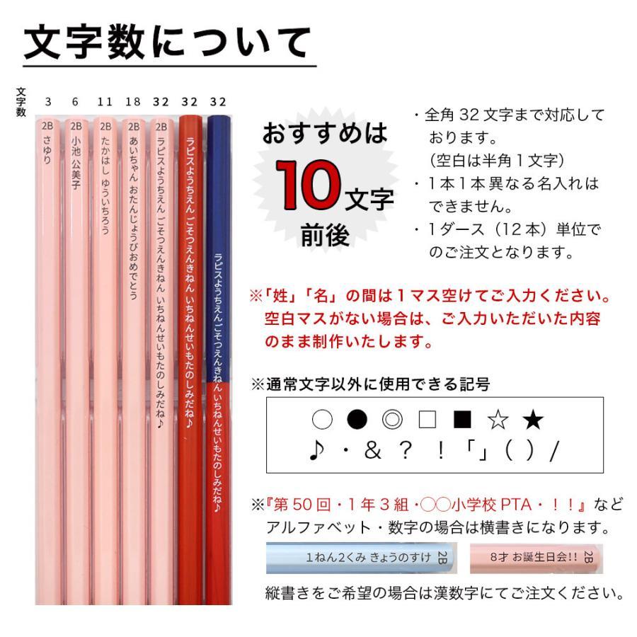 名入れ 鉛筆 パステルカラー鉛筆  2B (赤鉛筆セット) 朱色 卒園 記念品 オリジナル えんぴつ ブルー ピンク lapiz 13
