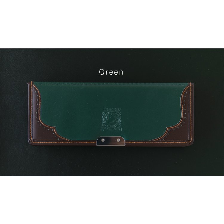 LIRICO リリコ 筆箱 ロデオ ペンケース 筆入れ ネイビー (ブルー) ブラウン グリーン lapiz 10