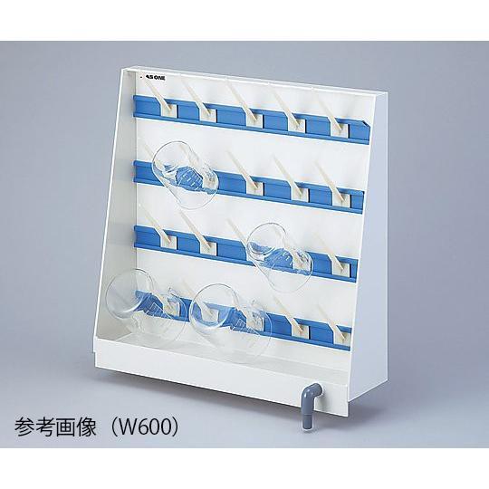 ビーカー掛け(片面流し台用) 20フック W600 3-1381-01