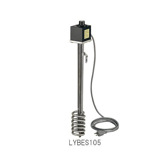 サーモスタット付投込みヒーター 特殊耐蝕鋼チタン 500W 1-8024-12