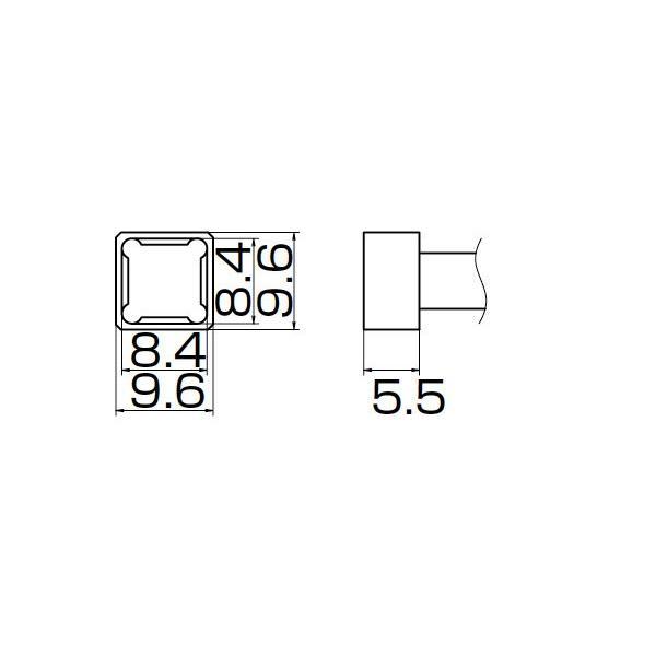 白光 こて先/PLCC8.4X8.4 T12-1209