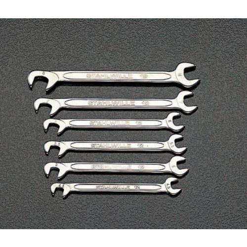 10本組/4.0-11mm 薄口スパナ(ダブルアングル) EA615A-2A