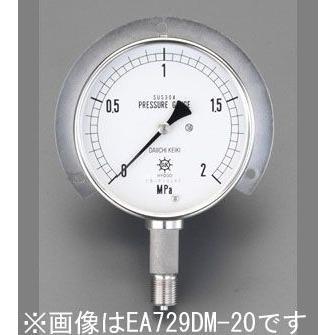 "G3/8""/100mm/0- G3/8""/100mm/0- G3/8""/100mm/0- 10MPa つば付圧力計(ステンレス) 7fd"