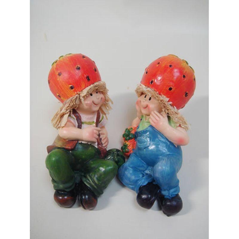 置物 寝そべり人形 イチゴ 2SET 人物 東京百貨店 largelife
