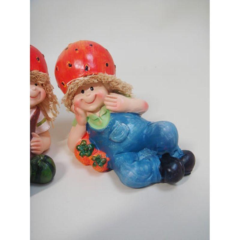 置物 寝そべり人形 イチゴ 2SET 人物 東京百貨店 largelife 06