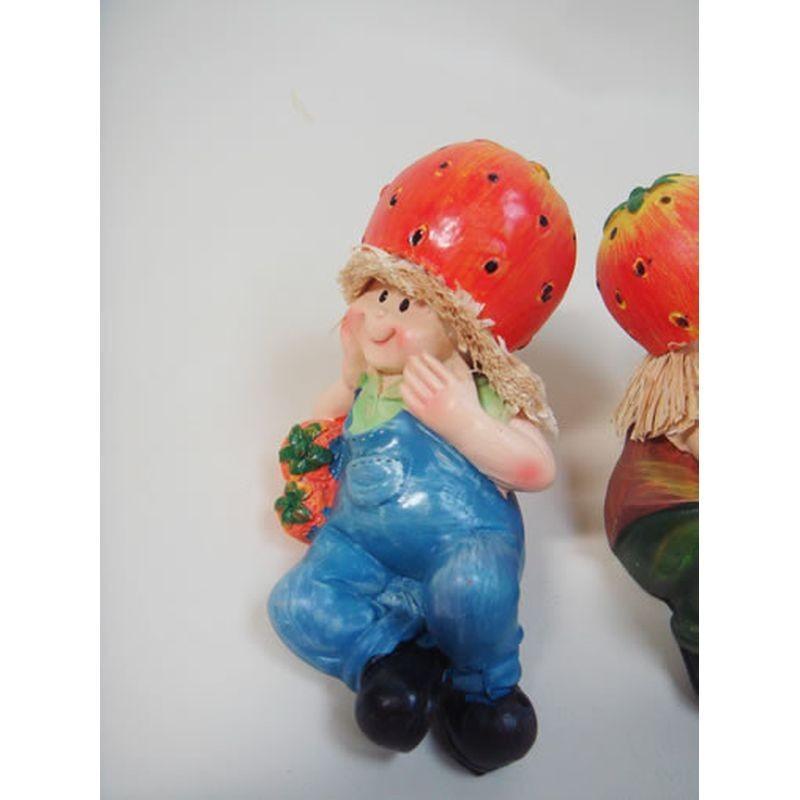 置物 寝そべり人形 イチゴ 2SET 人物 東京百貨店 largelife 07