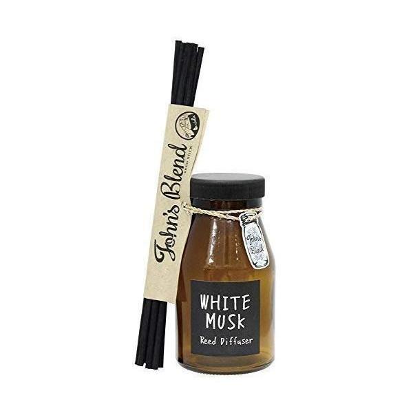 未使用 ノルコーポレーション ルームフレグランス 日本 リードディフューザー OA-JON-6-1 140ml ホワイトムスクの香り Blend Johns