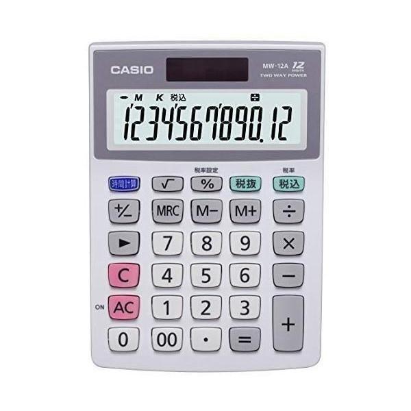 限定特価 カシオ MW-12A-N セール品 電卓 12桁 ミニジャストタイプ