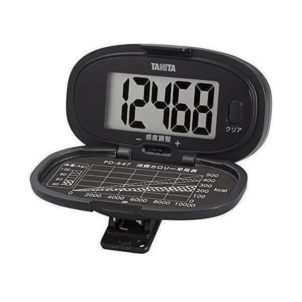 予約 タニタ PD-647-BK ブラック TANITA 大画面 腰タイプ 特価 歩数計