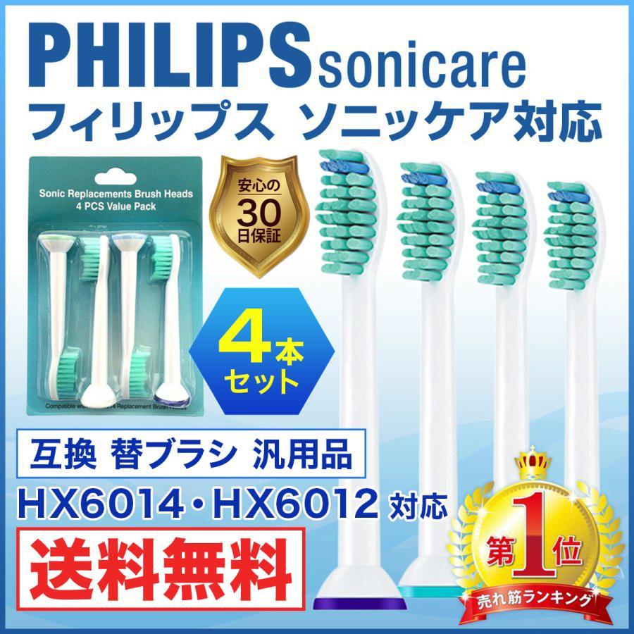 ソニッケアー 着後レビューで 送料無料 替えブラシ 互換ブラシ ブラシ イージークリーン HX6014 即納 HX6024対応 プロリザルツ 互換 電動歯ブラシ
