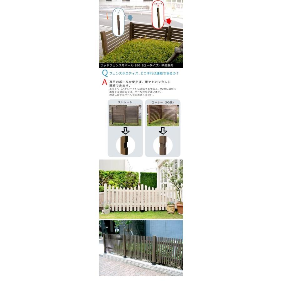 ウッドフェンス用ポール950(ロータイプ)単品販売 激安セール アウトレット価格 lavender-house 02