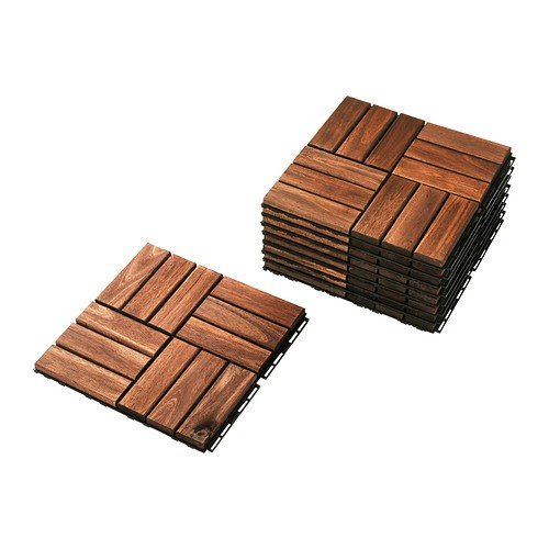 IKEAフロアデッキRUNNEN ブラウン9 代引き可 商品追加値下げ在庫復活 枚入り送料¥750 物品