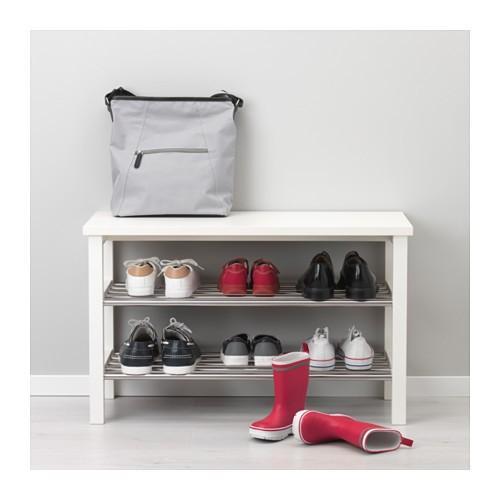 IKEAベンチ 靴収納付きTJUSIGホワイト81cm送料¥750!代引き可|lavista|02