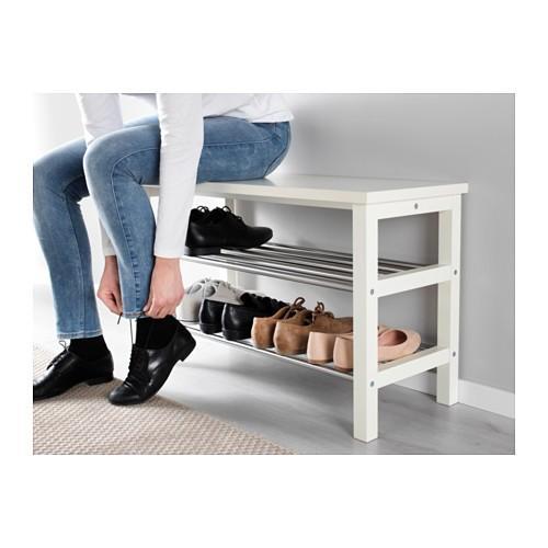 IKEAベンチ 靴収納付きTJUSIGホワイト81cm送料¥750!代引き可|lavista|04