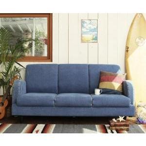 西海岸テイストヴィンテージデザインリビング家具シリーズ Ricordo リコルド ジーンズソファ 三人掛け