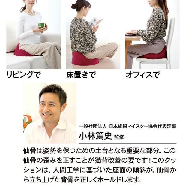 仙骨クッション 仙律 骨盤 猫背 姿勢 背筋 サポート 腰痛 クッション 座椅子 デスクワーク 腰の負担を軽減するクッション オフィスチェア 3D 高反発 送料無料 le-cure 05