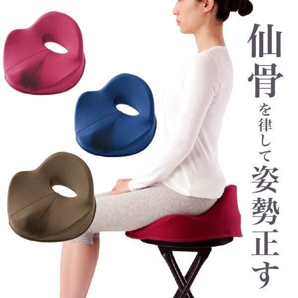仙骨クッション 仙律 骨盤 猫背 姿勢 背筋 サポート 腰痛 クッション 座椅子 デスクワーク 腰の負担を軽減するクッション オフィスチェア 3D 高反発 送料無料 le-cure 06
