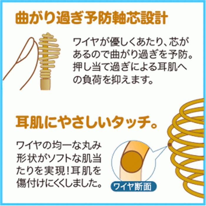 ののじ 綿棒耳かき 耳掻き コイル 螺旋 金属 ステンレス 耳掃除 耳垢 粉耳 アメ耳 日本製 |le-cure|05