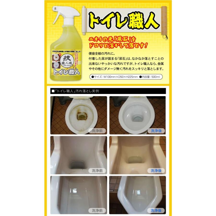 尿石除去剤技職人魂 トイレ職人 スプレーボトル 500ml トイレの尿石落とし トイレの黄ばみ取り プロのトイレ用洗剤 便器 黒ずみ 汚れ 尿石とり|le-cure|04