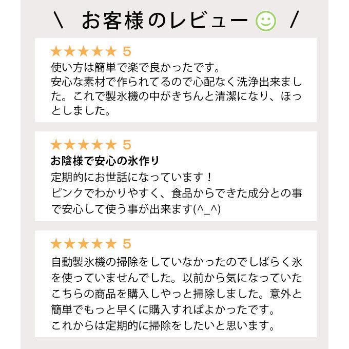 自動製氷機洗浄剤 氷キレイ 製氷機 洗浄 掃除 洗剤 冷蔵庫 製氷機クリーナー クエン酸 洗浄剤 ポイント消化|le-cure|02