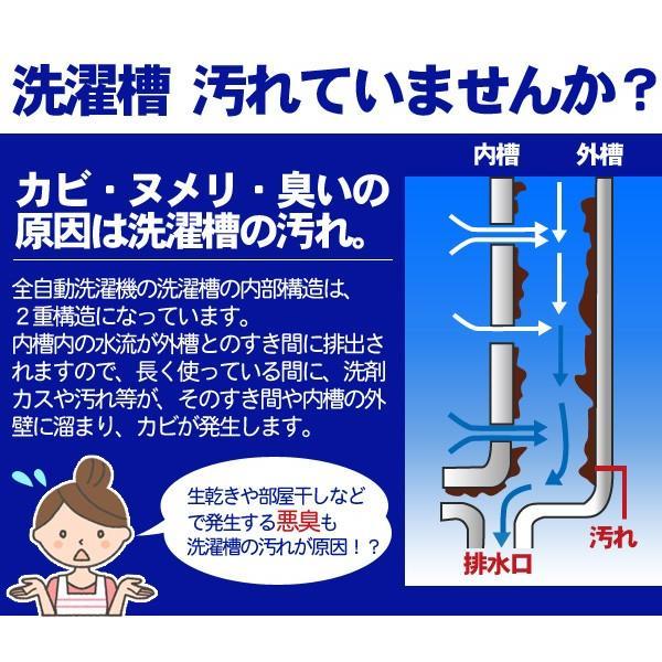 洗濯槽快セット 専用ネット付き(2包組×1 替用8包)|le-cure|03