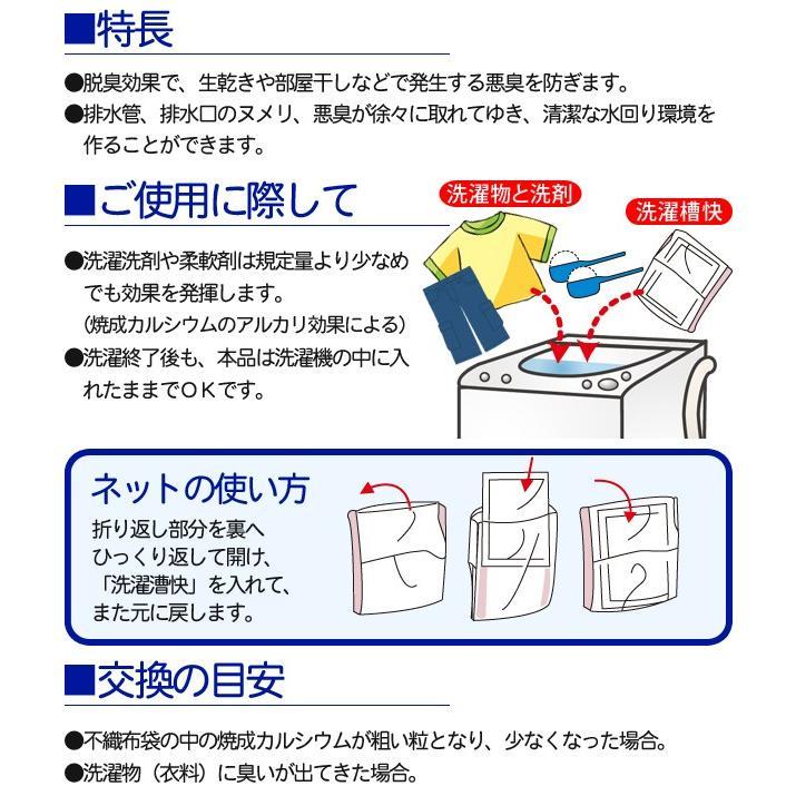 洗濯槽快セット 専用ネット付き(2包組×1 替用8包)|le-cure|05