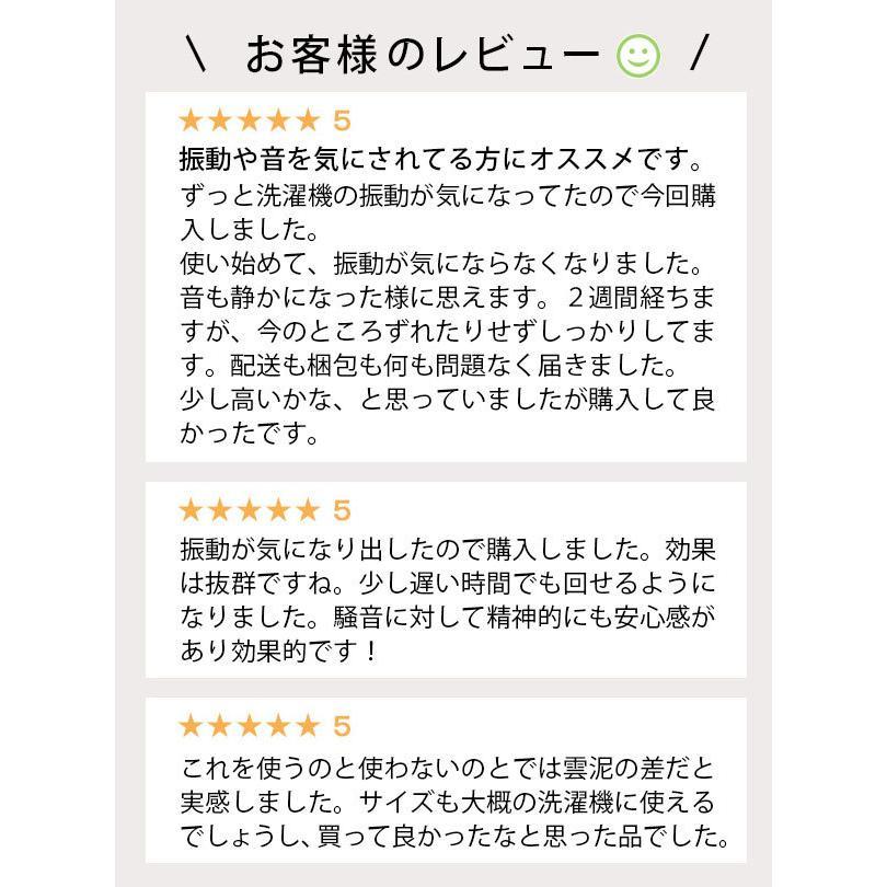 東京防音 洗濯機用防振ゴム tw-660 ニューしずか 防振マット 防振パッド le-cure 02