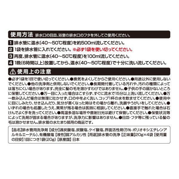 排水管洗浄剤 AT排水管一発洗浄 髪の毛とかし 非塩素系 業務用 配管洗浄剤 le-cure 04
