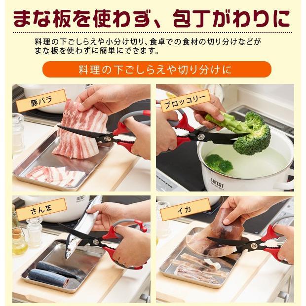 クッキングカーブはさみ キッチンはさみ カーブ刃 ソフトグリップ|le-cure|03