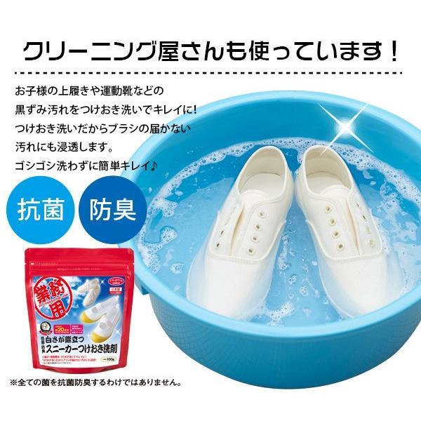 上靴用洗剤 クリーニング屋さんの白さが際立つ スニーカー洗剤 100g  ポイント消化 上履き用洗剤|le-cure|02