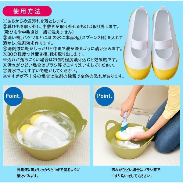 上靴用洗剤 クリーニング屋さんの白さが際立つ スニーカー洗剤 100g  ポイント消化 上履き用洗剤|le-cure|04