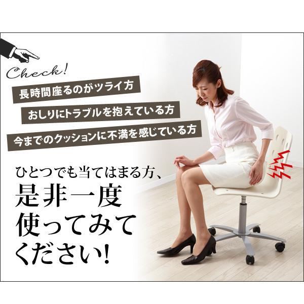 低反発クッション 座り心地が良い立体クッション ネイビー A-02 極厚 低反発 座布団 厚手 椅子 クッション 座椅子 テレワーク チェア 腰痛 ふかふかクッション|le-cure|03