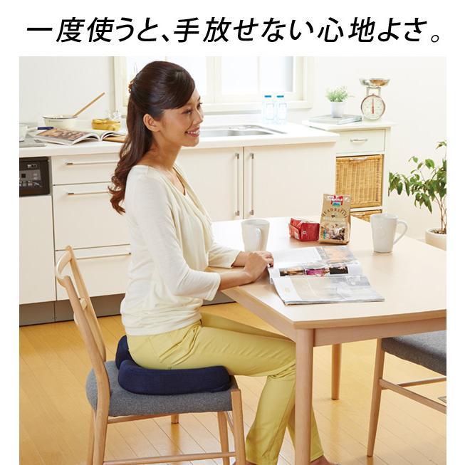 低反発クッション 座り心地が良い立体クッション ネイビー A-02 極厚 低反発 座布団 厚手 椅子 クッション 座椅子 テレワーク チェア 腰痛 ふかふかクッション|le-cure|10