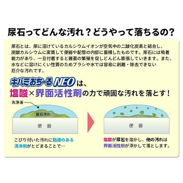 尿石落とし 徳用 キバミおちーるNEO 800ml 尿石除去剤 強力 黄ばみ取り洗剤 トイレ用洗剤|le-cure|05