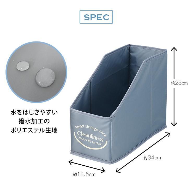 たためる洗面台下収納BOX 3色セット 折り畳める収納ボックス 収納箱 撥水加工 洗面台 トイレ キッチン 小物収納 整理整頓|le-cure|06