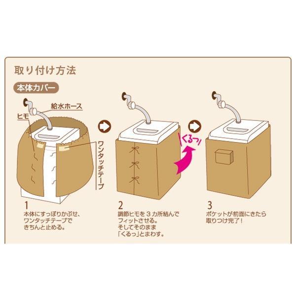 洗濯機すっぽりカバー 洗濯機カバー 防水 屋外 紫外線 梅雨対策 雨の日 つゆ 雨 送料無料 le-cure 03