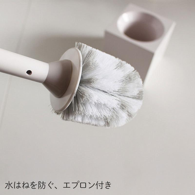 マーナ スクエアトイレブラシ W061W トイレブラシ セット トイレ掃除ブラシ ケース付き 白 スタンド トイレ 収納 衛生的 掃除 アラウーノ グッドデザイン 日本製 le-cure 05